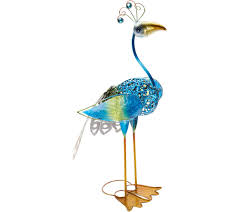 painted metal glass bird garden statue page 1 qvc