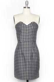 houndstooth dress strapless houndstooth dress