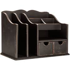 Organizer Desk Distressed Black Wood Desk Organizer Hobby Lobby 1119460