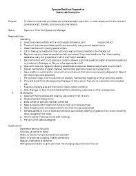 resume job description cna fast food manager job description for resume resume for study