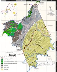 Virginia Mountains Map by Directions Nelson County