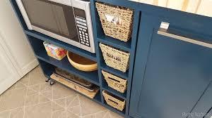 microwave in island in kitchen unique butcher block microwave cart custom diy rolling kitchen