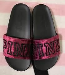 pink slides s secret pink velvet slides ruby black sandals small 5