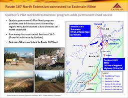 Quebec Map Four High Grade Gold Targets Confirmed At Eastmain Mine