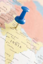 India On Map by Image Of Blue Thumb Tack Locating New Delhi On Map Of India