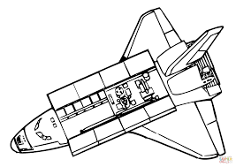 space shuttle above view coloring page free printable coloring pages