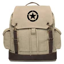 military jeep tan world war 2 military jeep star rucksack backpack w leather straps