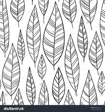 handdrawn ornamental feather line collection stock vector