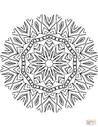 kaleidoscope mandala coloring page free printable coloring pages