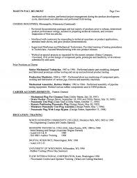 54 Resume Mechanical Engineer Sample by Awesome Collection Of Mechanical Engineering Technician Resume
