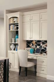 kitchen cabinets for home office a built in desk with bookcase and cabinets creates a seamless home