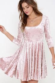 Womens Light Pink Dress Skater Dresses Velvet 15 Best Velvet Skater Dress