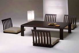 Low Dining Room Table Awesome Black Rectangle Minimalist Wood Low Dining Table With 4
