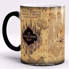 Marauder Map Harry Potter Mug Color Changing Cup Mischief Managed Marauder Map