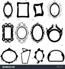 set different shape modern ancient mirrors stock vector 47195836