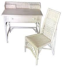 White Wicker Desk by White Wicker Desk And Chair Pre Owned White Wicker Desk U0026 Chair
