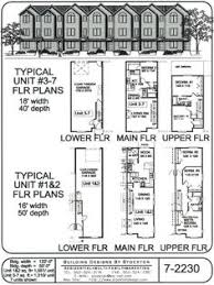 Building Designs By Stockton 15 Narrow Row House With Garage Building Plans Townhouses