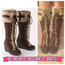 s boots knee high brown 50 so boots adara brown knee high faux fur boots from