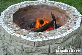 Fire Pit Diy Amp Ideas Diy Diy Backyard Mosaic Fire Pit The Craftiest Couple