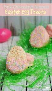 rice krispie treats for thanksgiving pink chocolate covered easter egg rice krispies treats