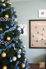 Silver Christmas Tree Baubles - christmas tree decorations with blue ribbons u2013 happy holidays