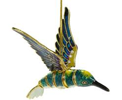 articulated bejeweled cloisonne hummingbird ornament animal