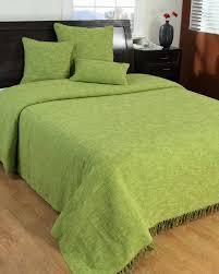 nirvana slub cotton lime green throw homescapes