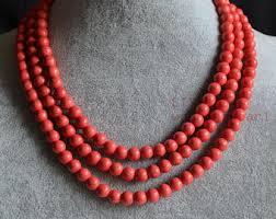 etsy beads necklace images Orange necklace etsy jpg