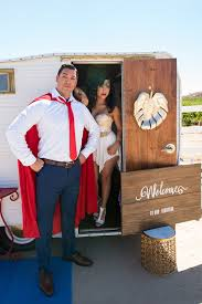 super hero stylized wedding superman wonder woman