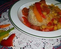 cuisine andalouse recette poivrons à l andalouse sur lit de boulgour facile rapide