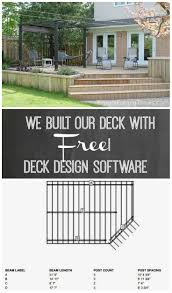 Free Online Deck Design Home Depot We Built A Deck Free Online Deck Design Software Frugal Family