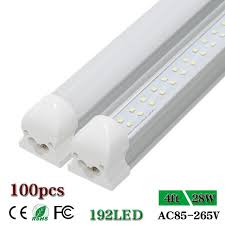 led 4 ft lights cnsunway lighting double row 4 ft led tube light integrated t8 clear