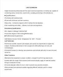 technical resume exles resume laboratory technician resume sle lab techniques