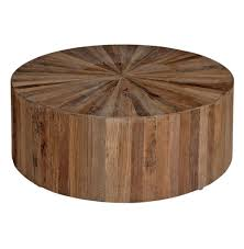 circle wood coffee table cyrano reclaimed wood round drum modern eco coffee table kathy kuo