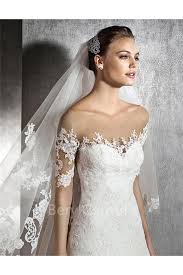 illusion neckline wedding dress a line illusion neckline sleeve tulle lace wedding dress