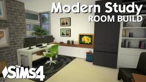 the sims 4 room build modern study youtube