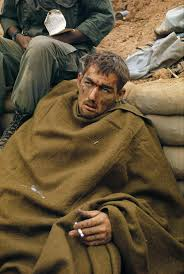 De K He Wounded Dazed Looking American Soldier During The Battle Of Khe