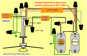 wiring diagram fan light source at the fixture electrical