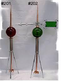 fancy lightning rods balls and ornaments lightning rod parts