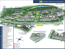 Illinois State University Campus Map by University Of Michigan Dearborn Map Michigan Map