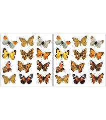 home decor colorful butterflies wall decals 24 piece set joann