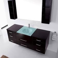 abodo 63 inch wall mounted single espresso bathroom vanity cabinet set