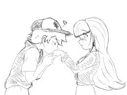 kiss on the hand sketch wip by lunelapin on deviantart