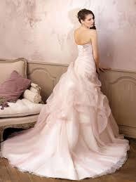 Non Traditional Wedding Dresses Palest Pink Strapless Pick Up Unique Wedding Dress Groupdress Com