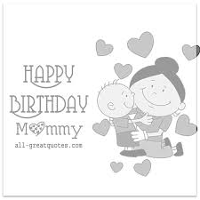 birthday cards kids to mother happy birthday mommy facebook