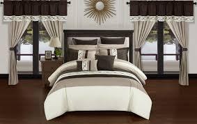 home design comforter chic home idit 24 comforter set color block bed in a bag beige