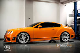 bentley orange bentley continental gt black bison by wald international on dpe wheels