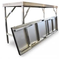 stainless steel folding table folding stainless steel benches for sale australia wide buy direct