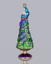 jay strongwater grand peacock christmas tree topper neiman