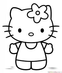 draw kitty step step drawing tutorials
